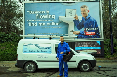 Hamish Erskine, Hamish the Plumber, Plumbers in Exeter, Business is Great